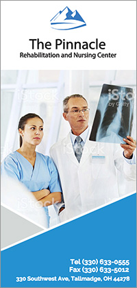 The Pinnacle Rehabilitation and Nursing Center brochure cover.