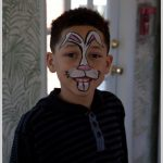 easter bunny face paint on a visitor