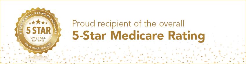 Medicare 5-star rating banner