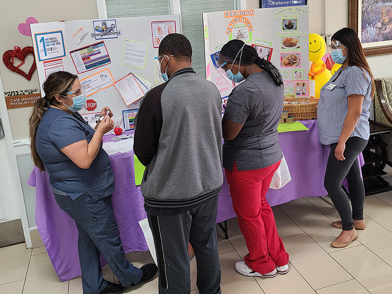 Employees participating in our skills fair.