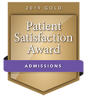 2019 Gold Patient Satisfaction Award for Admissions