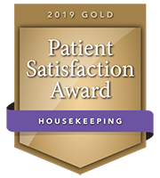 2019 Gold Patient Satisfaction Award for Housekeeping
