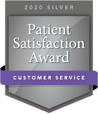 2020 Silver Patient Satisfaction Award for Customer Service