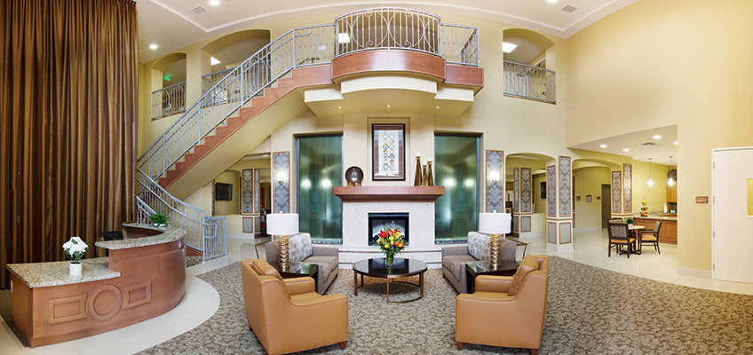 Coronado Heights front reception area