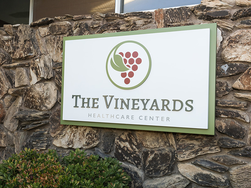 The Vineyards Healthcare Center exterior sign