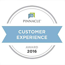 2016 Pinnacle Customer Experience Award