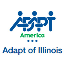 Adapt of Illinois button
