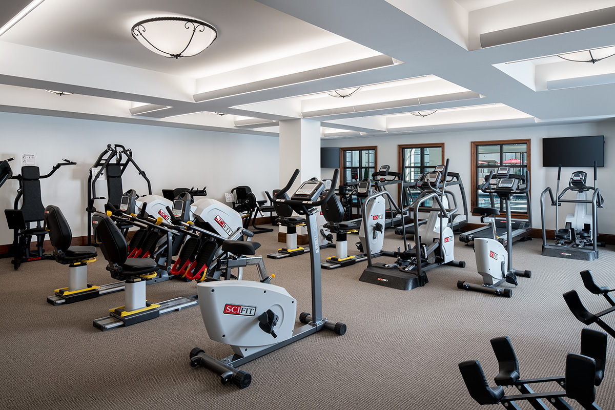 Gym at the facility