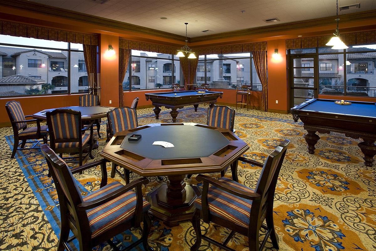 Poker room in the UVTO facility