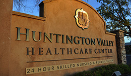 Huntington Valley exterior stucco and stacked stone sign