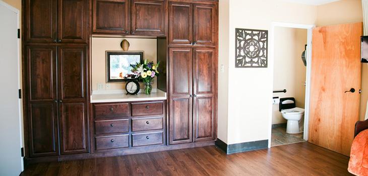 Living room inside a residents room