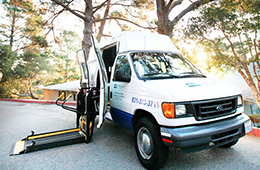 Cypress Ridge transportation van with wheelchair access