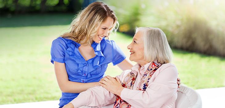 woman tending to older woman