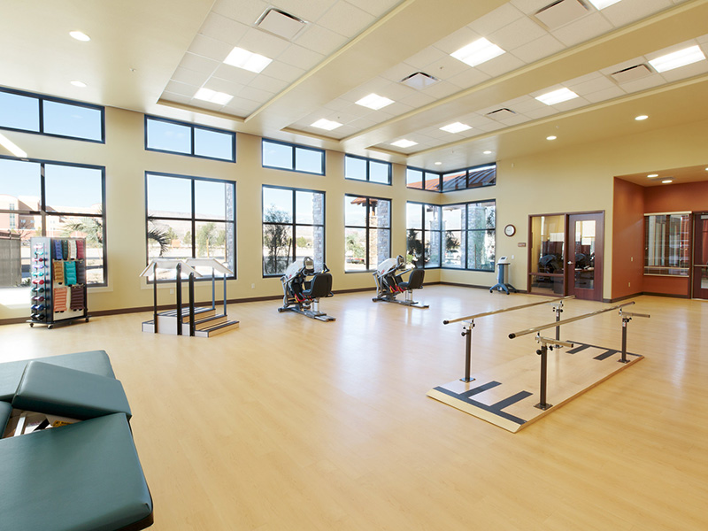 Physical therapy room at the facility