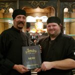 RHF Gold Country chefs holding the menu
