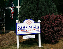 300 Main wood sign out front