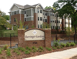 Barringer Gardens front of the facility