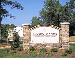 Benson Manor outside signage