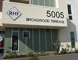 Broadwood Terrace front of building with address