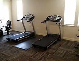 Broadwood Terrace exercise room with treadmills