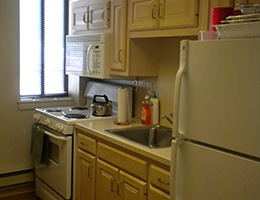 Capitol Towers resident kitchen