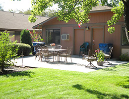 Centennial Manor outdoor patio