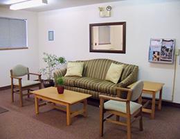 Centennial Manor sitting area with sofa