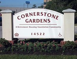 Cornerstone Gardens sign