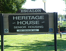 Escalon Heritage wooden sign
