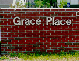 Grace Place outside Signage