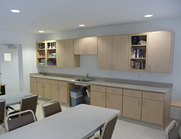 Harshield Terrace break room