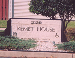 Kemet house outdoor signage