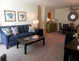 Kings Grant resident living room