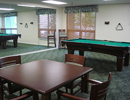 MacArthur recreation room with a pool table
