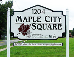 maple city square signage
