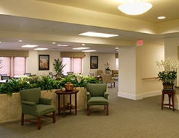 Providence Place waiting area