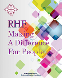 RHF annual report, making a difference for people cover