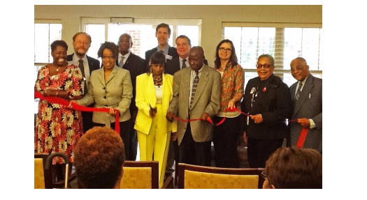 Barringer Gardens ribbon cutting ceremony