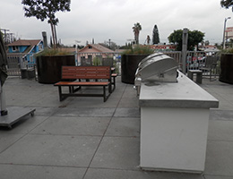 Whittier outdoor barbecue area