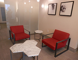Whittier modern style waiting area