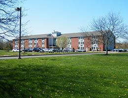 beautiful large lawn surrounding the facility