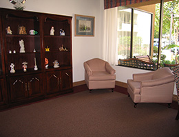 Pilgrim East lobby with seating area