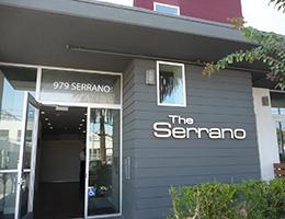The Serrano front entrance