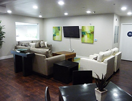 The Serrano TV lounge area