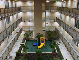 Witmer Heights atrium with playground