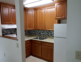 Round House Manor entrance kitchen cabinets