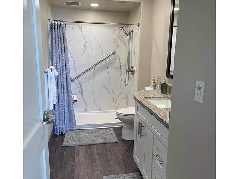 Bathroom at Bixby Knolls