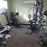 Gym space with several equipment options for use