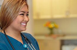 a smiling pretty nurse