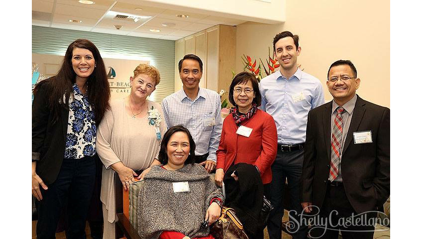 smiling professionals at newport beach memory care